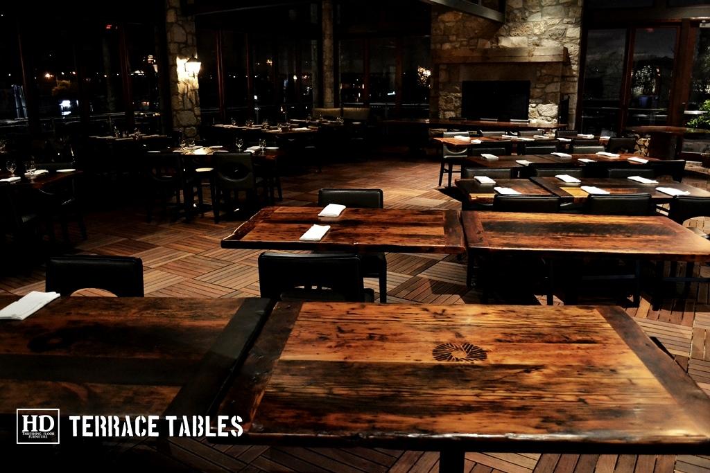 ... Reclaimed Wood Restaurant Tables ...