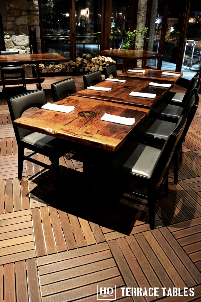 Reclaimed Wood Furniture Restaurant Tables Hd Threshing