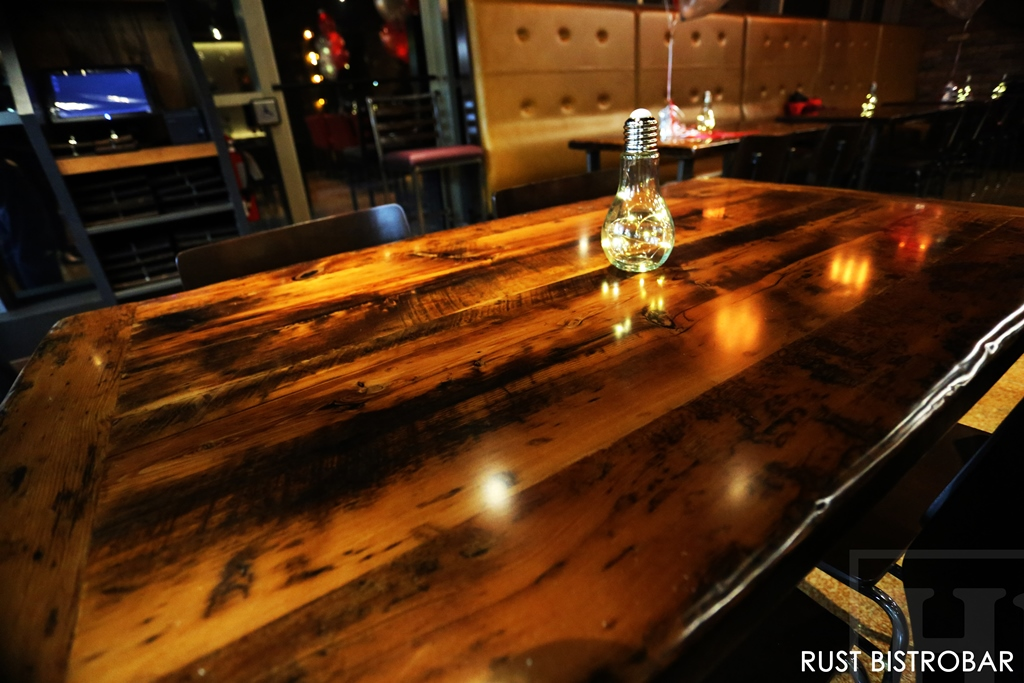 Reclaimed Wood Trestle Tables Finished With Epoxy By Hd  Reclaimed Wood Furniture | Restaurant Tables | HD Threshing