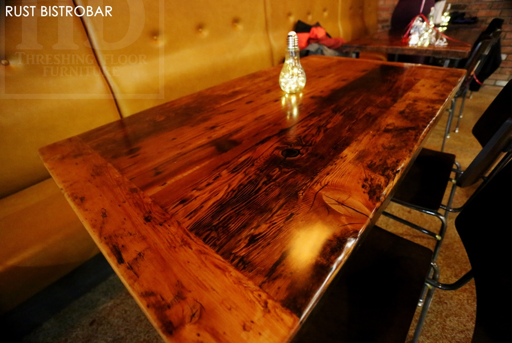 Reclaimed Wood Trestle Tables Finished With Epoxy By Hd