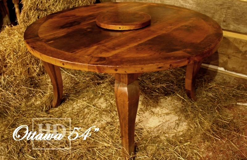 Round Reclaimed Wood Dining Table Hd Threshing Images