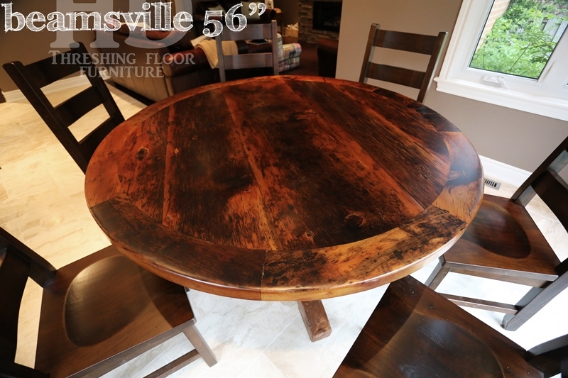 round reclaimed wood dining table rustic round wood tables