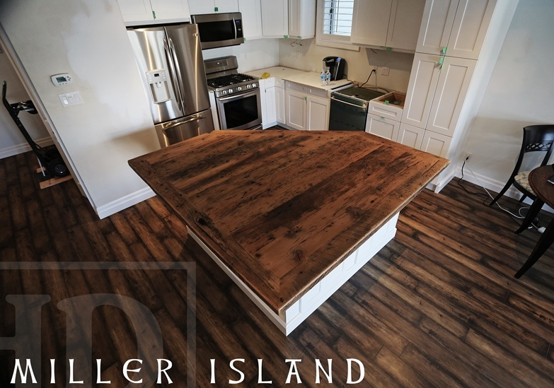 Reclaimed Wood Bar Amp Kitchen Island Tops Hd Threshing