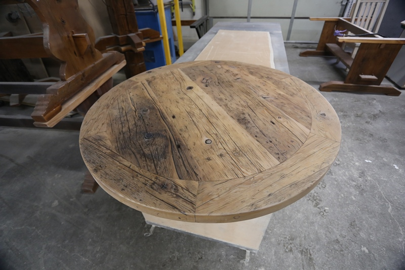Reclaimed Wood Trestle Tables Finished With Epoxy By Hd  Reclaimed Wood Bar & Kitchen Island Tops | HD Threshing ...