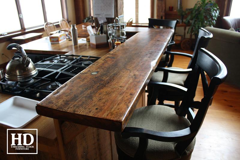 Reclaimed Wood Bar amp Kitchen Island Tops HD Threshing Floor Furniture
