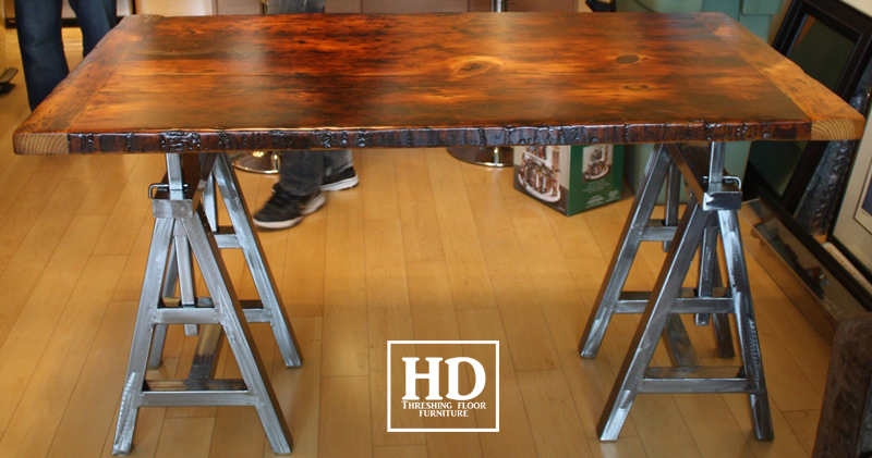 Reclaimed Wood Bar Kitchen Island Tops HD Threshing Floor Furniture - Refurbished wood table tops
