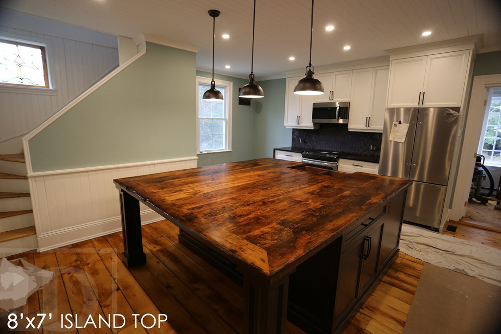 Reclaimed Wood Bar Amp Kitchen Island Tops Hd Threshing
