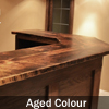 Reclaimed Wood top with mitred angles