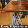 Reclaimed Wood Table with custom metal base
