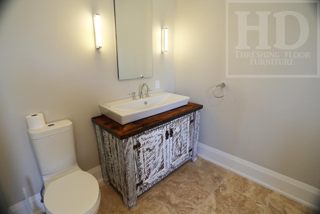 Custom Bathroom Vanities Ontario reclaimed wood furniture | vanities | hd threshing