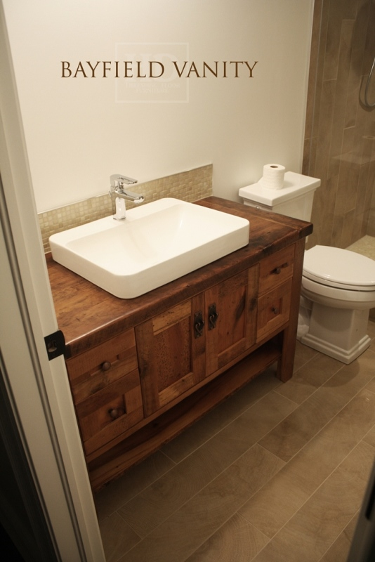 wooden bathroom sink cabinets. A Custom Reclaimed Wood Vanity In Toronto  Furniture Vanities HD Threshing