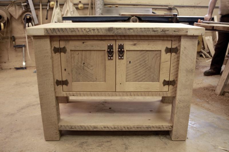 Custom Reclaimed Wood Vanity Toronto Epoxy Polyurethane Finish