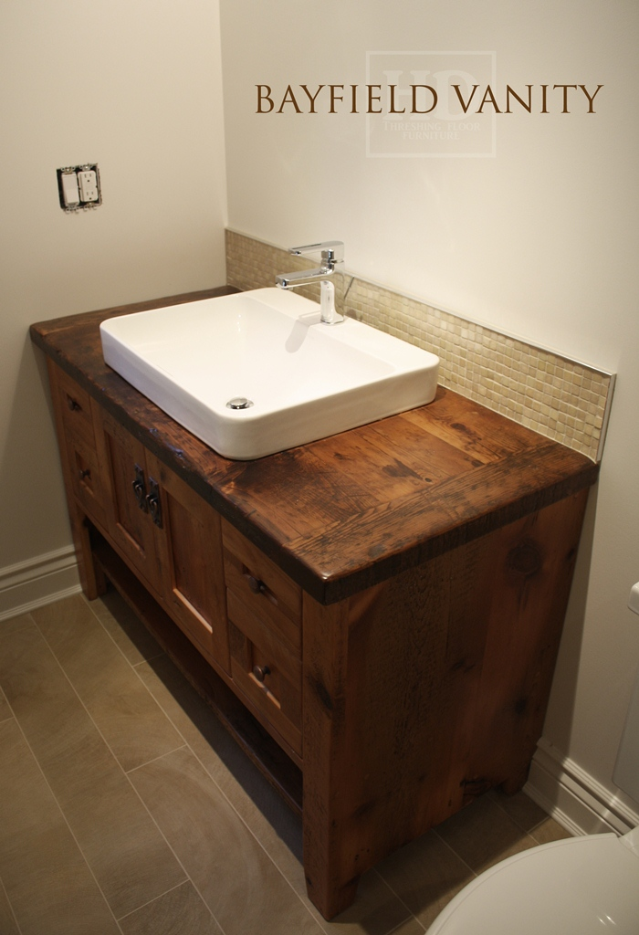 Custom Bathroom Vanities Oakville reclaimed wood cabinets bath | bar cabinet